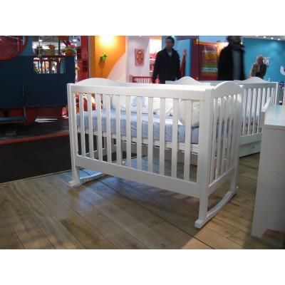 Lit bb barreaux tilleul finition laqu blanc 60 x 120 - Lit bebe a barreaux ...