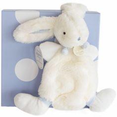 Coffret doudou plat bleu Mon tout petit Lapin Bonbon (26 cm) - Doudou et Compagnie