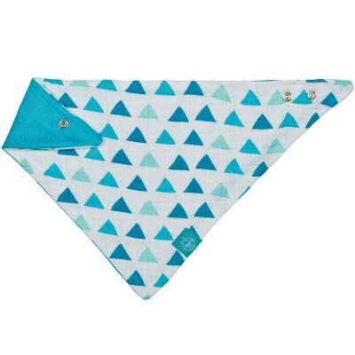 Bandana triangle bleu