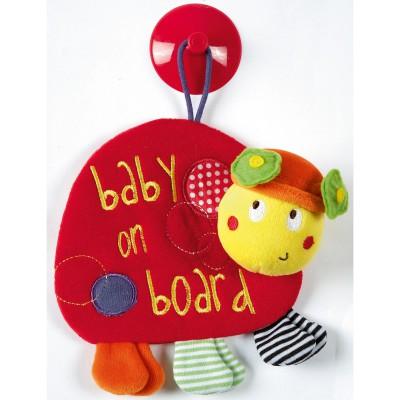 Signalétique bébé à bord ventouse coccinelle babyplay