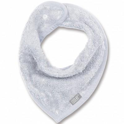 Bavoir bandana gris clair