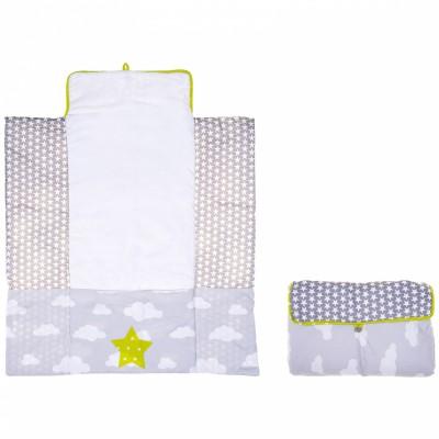 tapis langer coton gris et vert 30 x 20 cm bb co. Black Bedroom Furniture Sets. Home Design Ideas