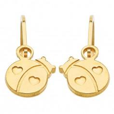 Boucles d'oreilles brisures Coccinelle (or jaune 750�)