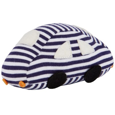Hochet pouet pouet voiture marinière (13 cm)