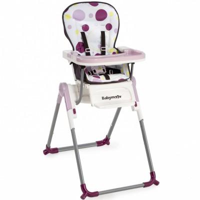 Chaise haute slim pliable prune