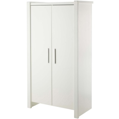 armoire blanche 2 portes goa domiva berceau magique. Black Bedroom Furniture Sets. Home Design Ideas
