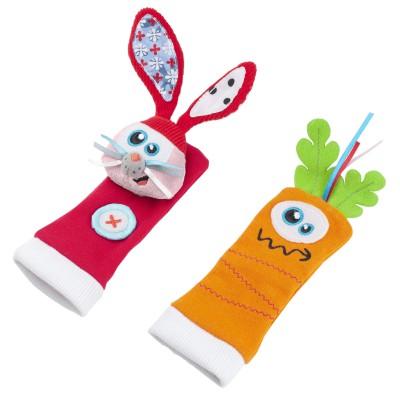 Chaussettes d'éveil lapin et carotte (0-1 an)