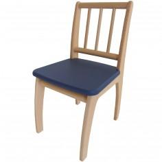 Chaise Bambino en bois naturel et bleu fonc� - Geuther