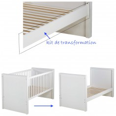 Kit transformation blanc pour lit 140 x 70 cm - Domiva