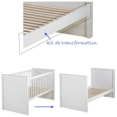 Kit transformation blanc pour lit 140 x 70 cm