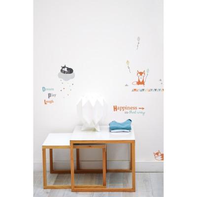 Stickers A3 maki & kitsune by Sophie Cordier (29,7...
