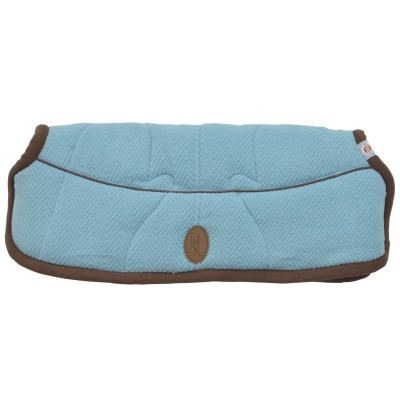 Moufles pour poussette bleu et marron warmer reluxury