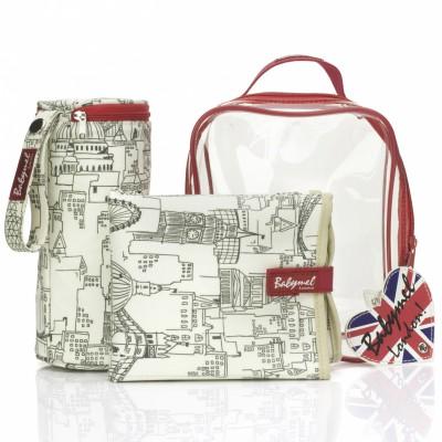 Kit accessoires sac à langer gift set london skyline
