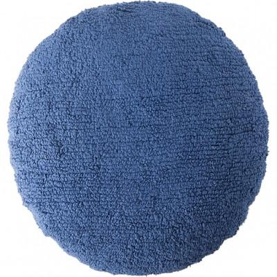 coussin enfant rond bleu marine diamtre 45 cm. Black Bedroom Furniture Sets. Home Design Ideas