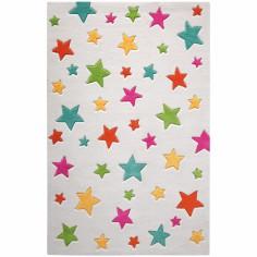 Tapis Simple Stars �toiles multicolores (110 x 170 cm) - Smart Kids