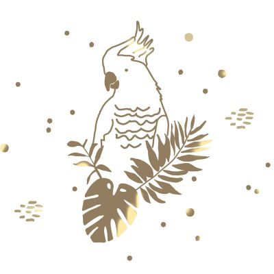 Sticker mural golden parrot 60 x 40 cm mimi 39 lou for Meubles flamant outlet