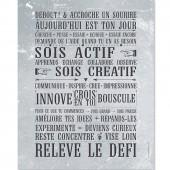 Affiche � encadrer Rel�ve le D�fi gris b�ton (40 x 50 cm) - Mes mots d�co