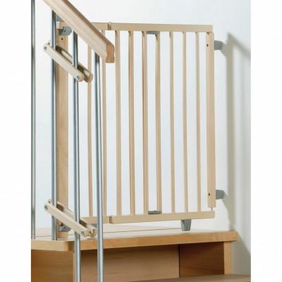 Barrière de sécurité pour escaliers bois naturel (99,5 à 140 cm)