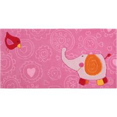 Tapis Happy Zoo �l�phant Rose (90 x 160 cm) - Sigikid Tapis