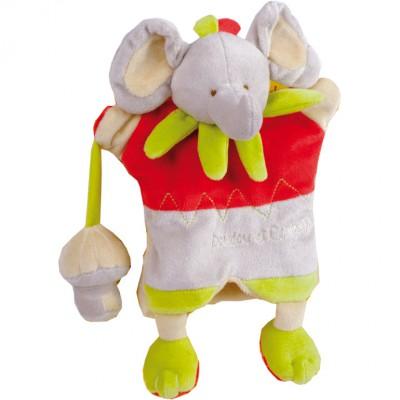 Doudou marionnette alban l'éléphant (25 cm)