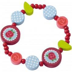 Bracelet en bois Fleur Rose | Berceau Magique