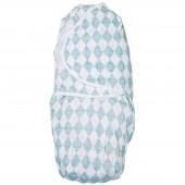 Couverture d'emmaillotage bleue Bundler Reluxury - Lodger