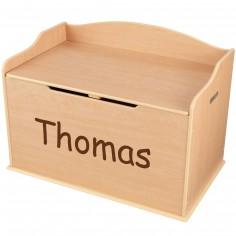 coffre a jouet en bois personnalise. Black Bedroom Furniture Sets. Home Design Ideas