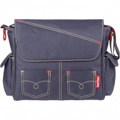 Sac � langer maman bandouli�re bleu jean Life in the air