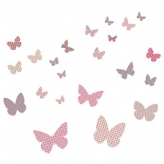Sticker mural papillon berceau magique - Stickers papillon chambre bebe ...