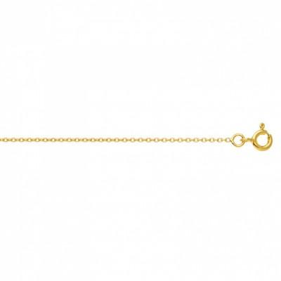 Cha�ne maille for�at rond 42 cm (or jaune 750�) - Berceau magique bijoux