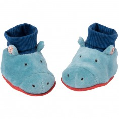Chaussons hippopotame Les Papoum (0-6 mois) - Moulin Roty