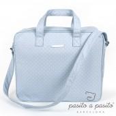Valisette de maternité Atelier bleu à pois blanc - Pasito a pasito