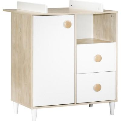commode 1 porte et 2 tiroirs nils avec dispositif langer. Black Bedroom Furniture Sets. Home Design Ideas