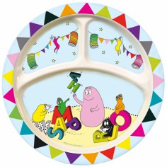 assiette 3 compartiments alphabet barbapapa petit jour paris. Black Bedroom Furniture Sets. Home Design Ideas