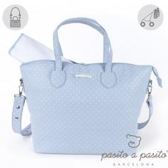 Sac � langer Atelier bleu � pois blanc - Pasito a pasito