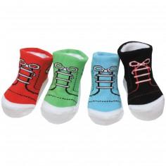 Bo�te 4 paires de chaussettes Baskets (0-12 mois) - BB & Co