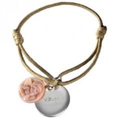 Bracelet cordon Ange (argent 925� et nacre) - Petits tr�sors