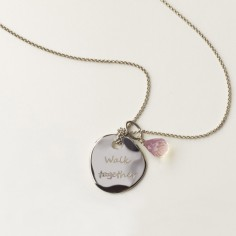 Collier avec pendentif Walk together et pierres briolet (argent 925�) - BeA legami preziosi