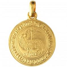 M�daille Agnel de Louis X 23 mm (or jaune 750�)