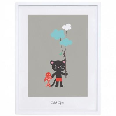 poster encadr amis pour la vie by chloe lefeuvre 30 x 40. Black Bedroom Furniture Sets. Home Design Ideas