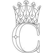 Gravure d'initiale Royale sur couvert Christofle - Christofle