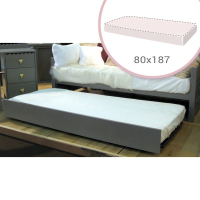 matelas pour tiroir lit gigogne mathy by bols 80 x 187 cm. Black Bedroom Furniture Sets. Home Design Ideas