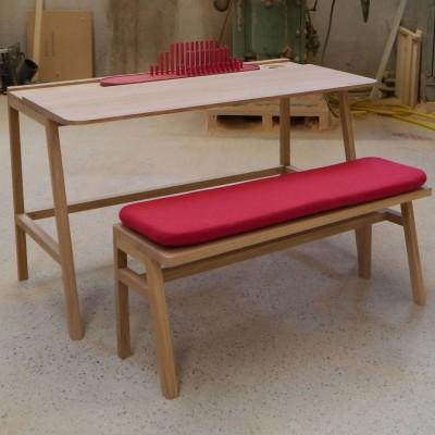 pack petit bureau et petit banc vessel avec petit coussin. Black Bedroom Furniture Sets. Home Design Ideas