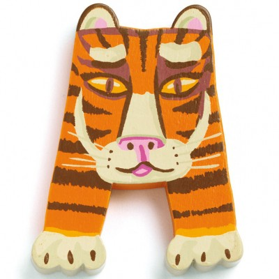 Lettre a en bois tigre achille