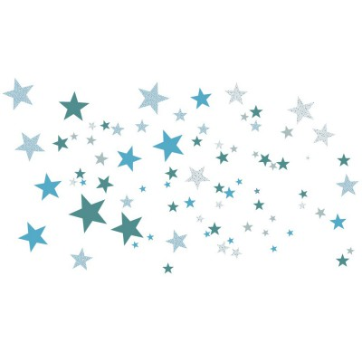 Stickers etoiles constellation bleue art for kids - Stickers etoiles chambre bebe ...