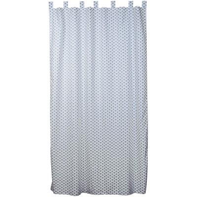rideau airplance gris bleu et blanc 145 x 280 cm taftan. Black Bedroom Furniture Sets. Home Design Ideas