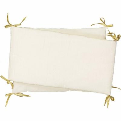 tour de lit plumetis cme blanc cass pour lits 60x120 et. Black Bedroom Furniture Sets. Home Design Ideas