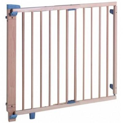 Barrière de sécurité bois naturel pour porte (68 à 109 cm)