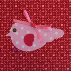 Tableau Candy Colours Bye Bye Birdie coeurs (20 x 20 cm) - Moepa