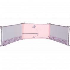 Tour de lit satin de coton bio Mon papillon de nuit (pour lits 60 x 120 cm et 70 x 140 cm) - P'tit Basile